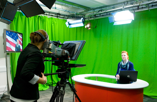 TV Studio at Aberdeen Business School