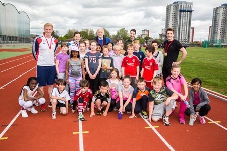 Sir Ian Wood (Centre) joined fellow Aberdeen Youth Games ambassadors on the day.