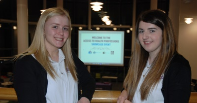 Access To Health Professions L-R Megan Karakus and Chloe Craighead