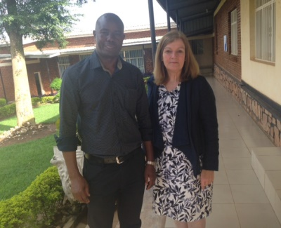 Anne Whitcombe visiting the School of Public Health in Rwanda