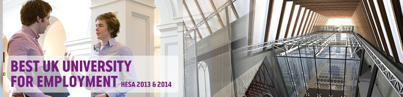 Best UK University for Employment - Architecture, Construction and Surveying Banner