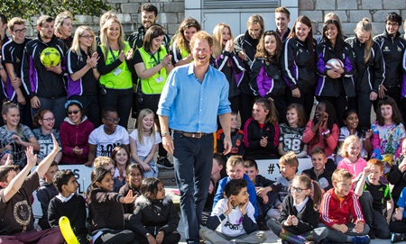 Prince Harry visited RGU to learn more about the Streetsport project.