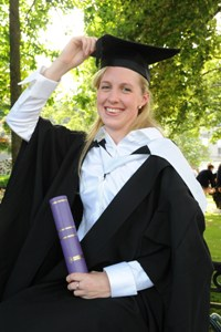 Olympic and world champion swimmer Hannah Miley is celebrating her latest success after graduating from Robert Gordon University.