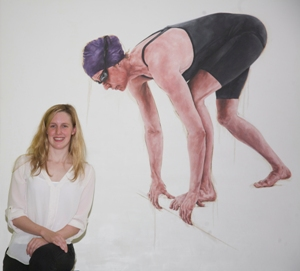 Hannah Miley with portrait