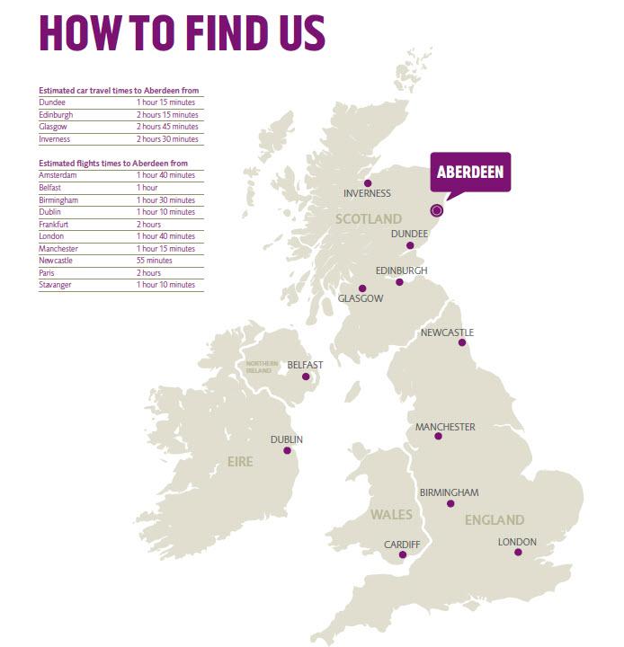 Maps | Contact/Find Us | Robert Gordon University (RGU) Aberdeen ...