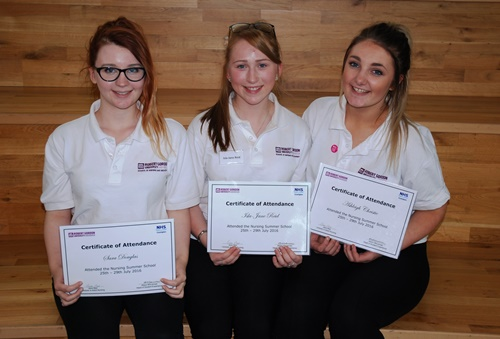 Huntly Academy pupils Sara Douglas (16), Isla-Jane Reid (17) and Ashleigh Christie (16) attended the programme.