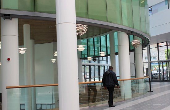 Inside the Sir Ian Wood Building atrium