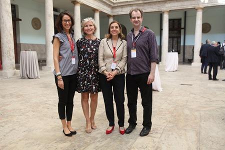 Elena Borin (finalist), Annick Schramme (ENCATC President), GiannaLia Cogliandro Beyens (ENCATC Secretary General) and Jonathan Price (RGU)