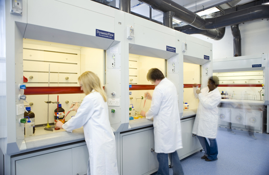 Flow cabinets in the Cell Culture Lab