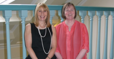RGU's head of commercialisation support, Marjory Millum (l), and head of new business, Donella Beaton (r).