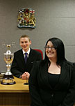 Law students mooting competition