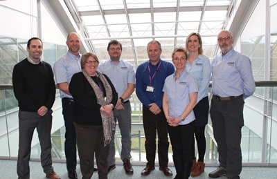 (L to R): Gavin Innes (RGU), Jason Williams (ORMS), Kate Goodhand (RGU), Tim Roberts (ORMS), Professor Ian Murray (RGU), Yvette la flame Willaims (ORMS), Haf Thomas (ORMS), Robin Trangmar (ORMS)