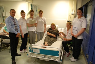 Ian Murray, Head of the School of Nursing and Midwifery at Robert Gordon University (left) joined pupils at the Nursing Summer School.