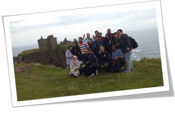 Pre-Sessional English students at Dunnottar Castle