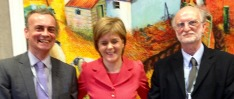 Peter Strachan and First Minister
