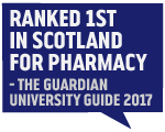 Guardian Accolade 2017 - 1st in Scotland for Pharmacy