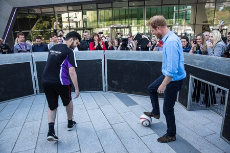 Prince Harry in Streetsport's 'Pano' arena.