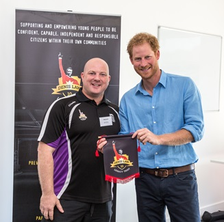 Prince Harry and Mark Williams