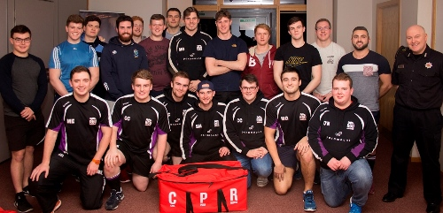 RGU Rugby team learned vital life-saving CPR skills.