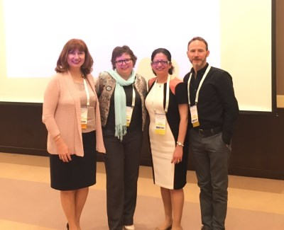 Image (L to R): Prof. Branka Miljkovic from Belgrade with RGU's Dr Ruth Edwards, Dr Antonella Tonna and Dr Scott Cunningham