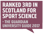 Guardian Accolade 2017 - 3rd in Scotland Sport Science