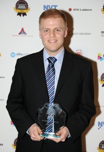 Craig Philips received the Outstanding Commitment Award for his work with the Streetsport initiative at Aberdeen's Sport Awards. Picture courtesy of the Evening Express.