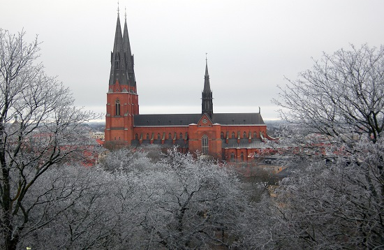 Uppsala Cathedral in Winter, Uppsala