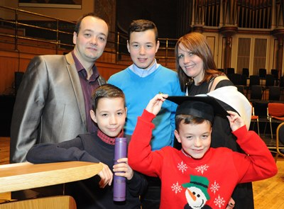Yvonne Robb with her husband Paul and their three sons Craig (14), Nathan (11) and Scott (8).