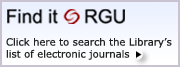Electronic Journals List