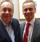 Peter Strachan and Alex Salmond