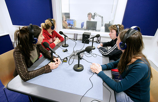 The radio station at Aberdeen Business School